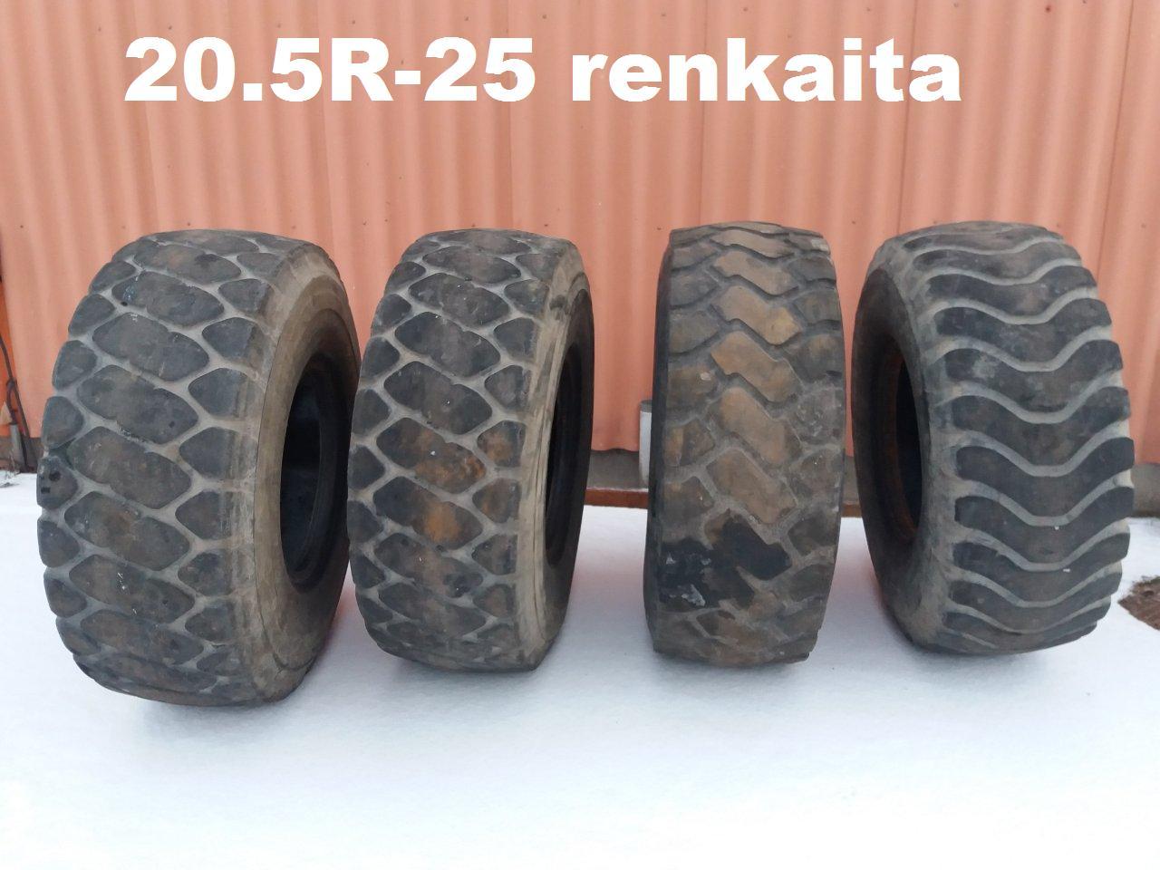 """Myydään 20.5""""-25 R renkaita pyöräkuormaajaan"""